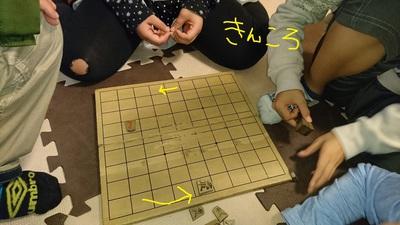 子供たちの将棋盤の使い方