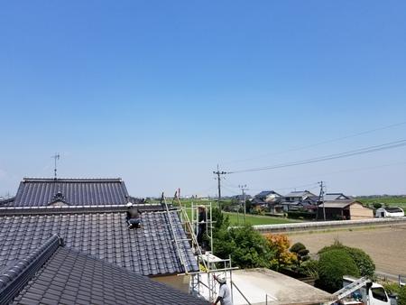 小城市牛津町にて屋根瓦補修工事