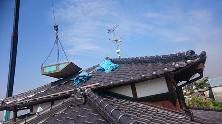 佐賀市川副町 K様邸 棟補修工事を着工しました。