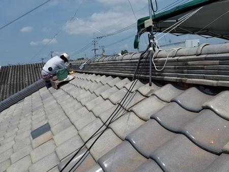 佐賀市蓮池にて屋根瓦補修工事