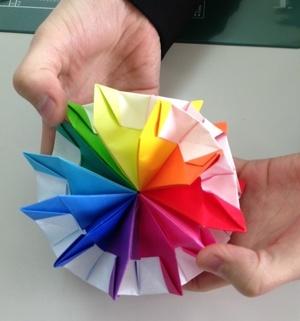 折り紙 万華鏡 折り 方 折り紙 万華鏡 折り方 Origami
